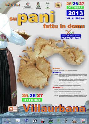 Manifesto della 16a Sagra del Pane a Villaurbana: